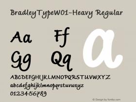 BradleyTypeW01-Heavy Regular Version 1.02 Font Sample
