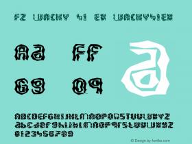 FZ WACKY 41 EX WACKY41EX Version 1.000 Font Sample