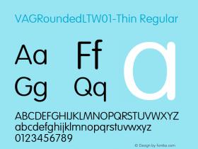 VAGRoundedLTW01-Thin Regular Version 1.00图片样张