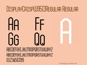 DisplayCrispW95-Regular Regular Version 1.00 Font Sample