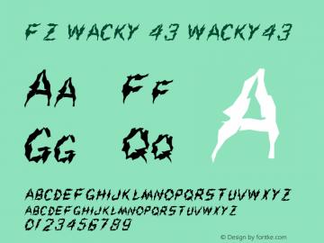 FZ WACKY 43 WACKY43 Version 1.000 Font Sample