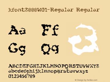 kfontZ888W01-Regular Regular Version 2.101 Font Sample