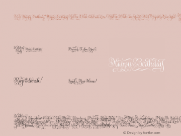 GratitudeScriptWordsW95-Rg Regular Version 1.00 Font Sample