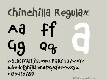 Chinchilla Regular Macromedia Fontographer 4.1 07.07.99 Font Sample