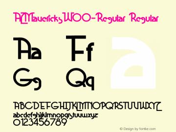 AZMavericksW00-Regular Regular Version 0.00 Font Sample