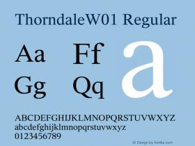 ThorndaleW01 Regular Version 1.1图片样张