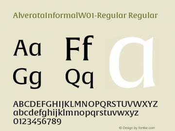 AlverataInformalW01-Regular Regular Version 1.00 Font Sample