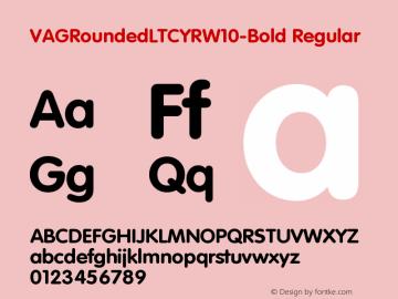 VAGRoundedLTCYRW10-Bold Regular Version 1.00 Font Sample