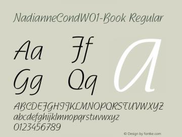 NadianneCondW01-Book Regular Version 2.02 Font Sample