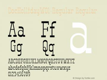 DocHollidayW01-Regular Regular Version 1.00图片样张