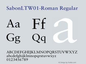 SabonLTW01-Roman Regular Version 2.02图片样张