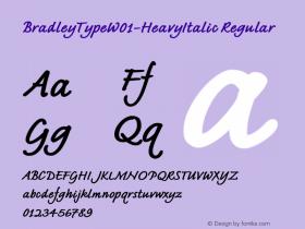 BradleyTypeW01-HeavyItalic Regular Version 1.02 Font Sample
