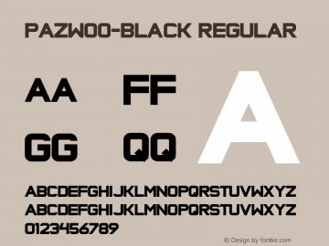 PazW00-Black Regular Version 1.1 Font Sample