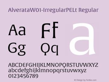 AlverataW01-IrregularPELt Regular Version 1.00 Font Sample
