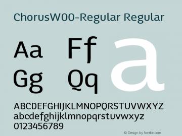 ChorusW00-Regular Regular Version 1.00 Font Sample