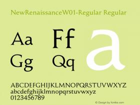 NewRenaissanceW01-Regular Regular Version 1.1图片样张