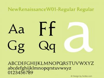 NewRenaissanceW01-Regular Regular Version 1.1 Font Sample