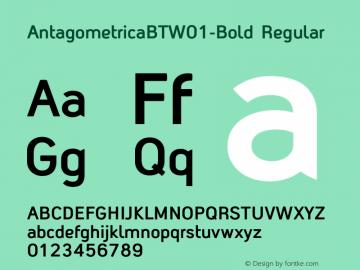 AntagometricaBTW01-Bold Regular Version 1.00图片样张