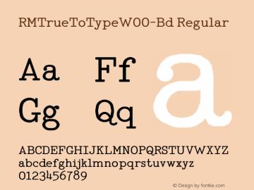 RMTrueToTypeW00-Bd Regular Version 1.00图片样张