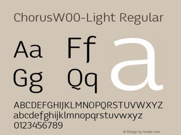 ChorusW00-Light Regular Version 1.00 Font Sample