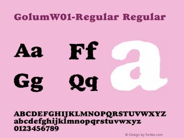 GolumW01-Regular Regular Version 1.00 Font Sample
