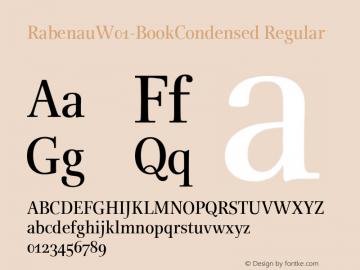 RabenauW01-BookCondensed Regular Version 1.00 Font Sample