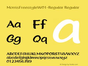 MorrisFreestyleW01-Regular Regular Version 1.00 Font Sample