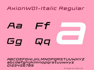 AxionW01-Italic Regular Version 1.00图片样张