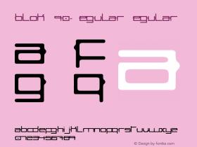 blokW90-Regular Regular Version 1.00图片样张