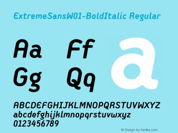 ExtremeSansW01-BoldItalic Regular Version 1.00图片样张
