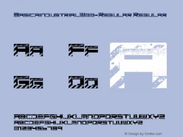 BasicaindustrialW00-Regular Regular Version 1.00图片样张