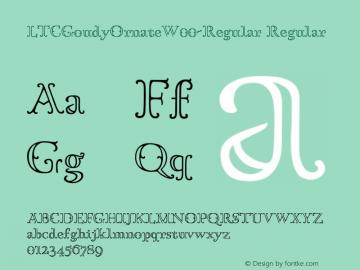 LTCGoudyOrnateW00-Regular Regular Version 1.00 Font Sample