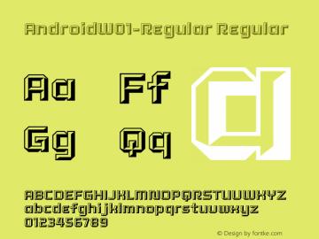 AndroidW01-Regular Regular Version 1.00图片样张