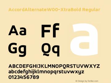 AccordAlternateW00-XtraBold Regular Version 1.10 Font Sample