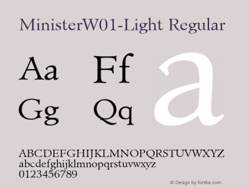 MinisterW01-Light Regular Version 1.00 Font Sample