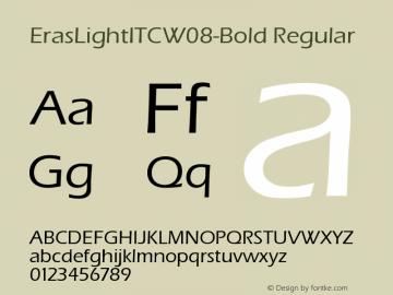 ErasLightITCW08-Bold Regular Version 1.00 Font Sample