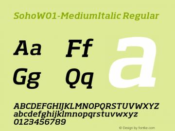 SohoW01-MediumItalic Regular Version 1.03 Font Sample