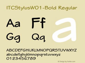 ITCStylusW01-Bold Regular Version 1.00图片样张