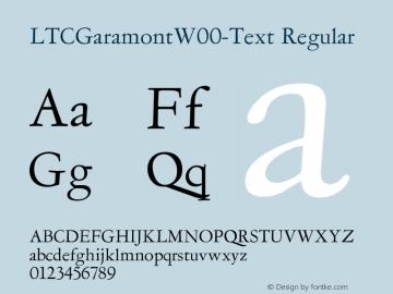 LTCGaramontW00-Text Regular Version 1.1 Font Sample