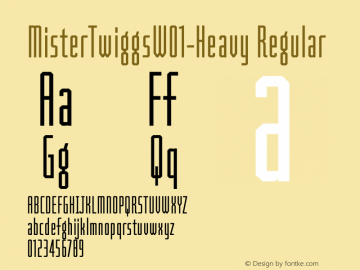MisterTwiggsW01-Heavy Regular Version 1.1 Font Sample