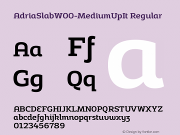 AdriaSlabW00-MediumUpIt Regular Version 1.30图片样张