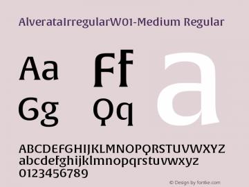 AlverataIrregularW01-Medium Regular Version 1.00图片样张
