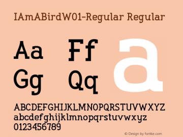 IAmABirdW01-Regular Regular Version 1.00 Font Sample