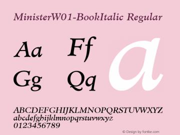 MinisterW01-BookItalic Regular Version 1.00图片样张