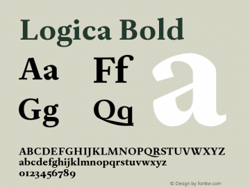 Logica Bold Version 1.000;PS 001.000;hotconv 1.0.88;makeotf.lib2.5.64775 Font Sample