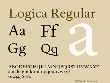 Logica Regular Version 1.000;PS 001.000;hotconv 1.0.88;makeotf.lib2.5.64775 Font Sample