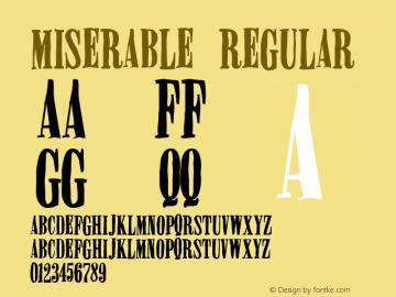 Miserable Regular 2 Font Sample