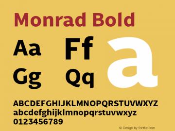 Monrad Bold Version 2.010;PS Version 2.0;hotconv 1.0.78;makeotf.lib2.5.61930图片样张