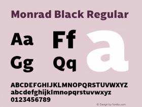Monrad Black Regular Version 2.010;PS Version 2.0;hotconv 1.0.78;makeotf.lib2.5.61930图片样张