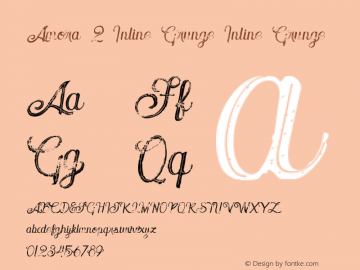 Amora 2 Inline Grunge Inline Grunge Version 1.000 Font Sample